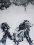 Lobo - Intaglio Print